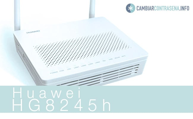 Huawei HG8245h wifi total play