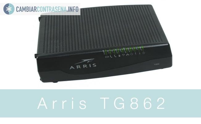 cambiar contraseña Arris TG862