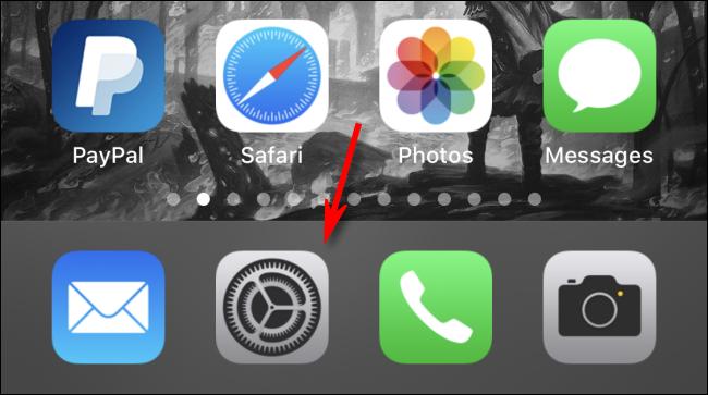 Abra la configuración en el iPhone