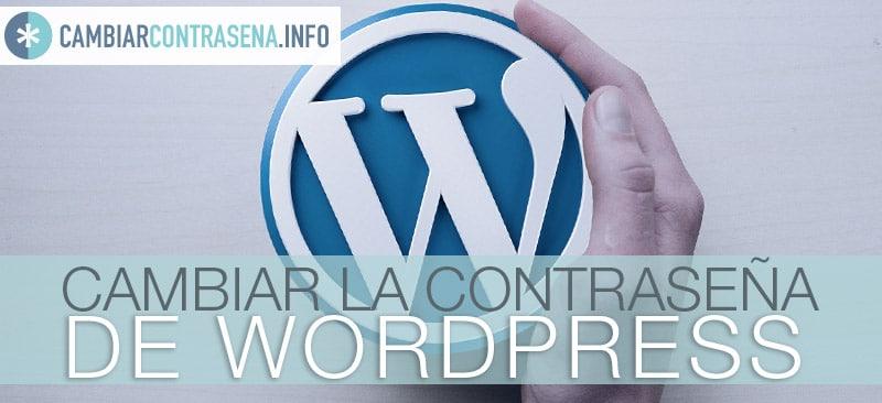 cambiar contraseña wordpress