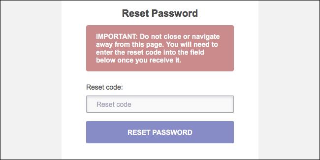 Restablecer el código de recuperación de contraseña de ProtonMail
